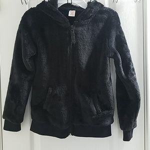 Black Arizona Hooded Jacket Girl's 10-12